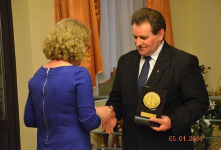 Nagroda za Zasługi dla Ziemi Garbowskiej 2013 r. dla Gustawa Jędrejka vice-prezesa Lubelskiej Izby Rolniczej