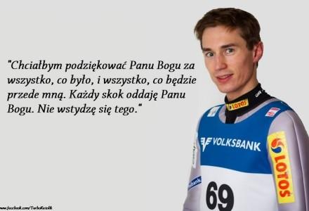 Kamil Stoch sportowy mistrz, który nie wstydzi się wiary