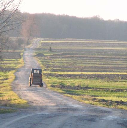 traktor w Glinnilu
