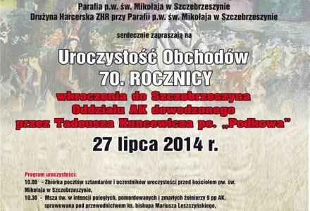 70 rocznica wkroczenia do Szczebrzeszyna oddziału AK pod dow. Tadeusza Kuncewicza