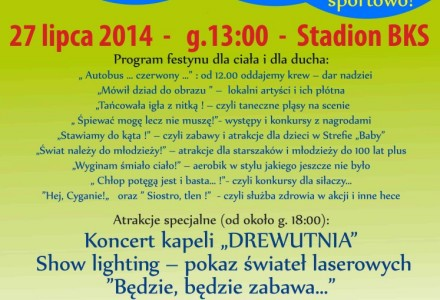 Niedziela 27 lipca – festyn w Bogucinie