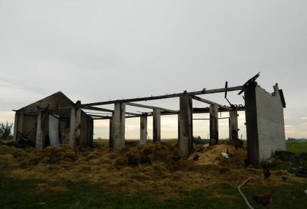 Pożar w Wielkiem. Od pioruna spłonęła stodoła