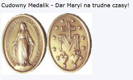 Cudowny Medalik – O Maryjo bez grzechu poczęta…