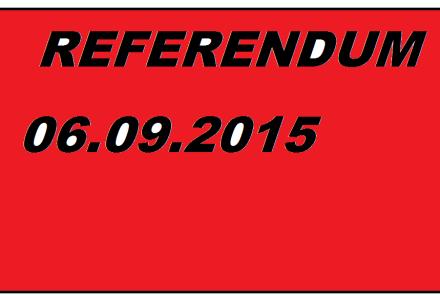 6 Września 2015 – Referendum