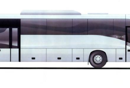 Wójt Chomiuk przekazuje autobus kierownikowi Zaworskiemu