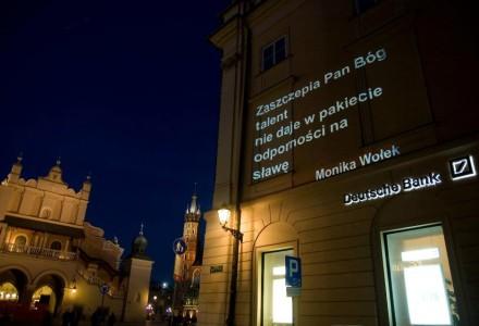 Wiersze Moniki – na krakowską ścianę
