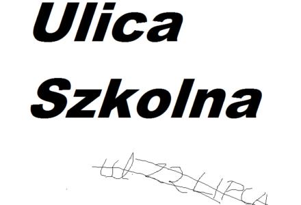 Od 12 października jest w Abramowie ulica Szkolna..