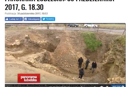 W lubelskiej telewizji o wykopaliskach w Wielkiem