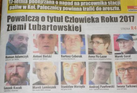 Czy Leszek Kozak zostanie Człowiekiem Roku 2017 Ziemi Lubartowskiej?