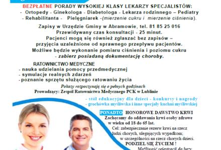 Skorzystaj z porady lekarzy-specjalistów. 28.04.2019 – Biała Niedziela w Abramowie.